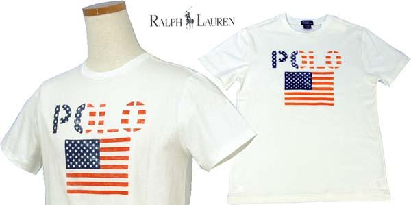 ラルフローレン POLOロゴ、USAフラッグ半袖 Tシャツ 生地は綿100%