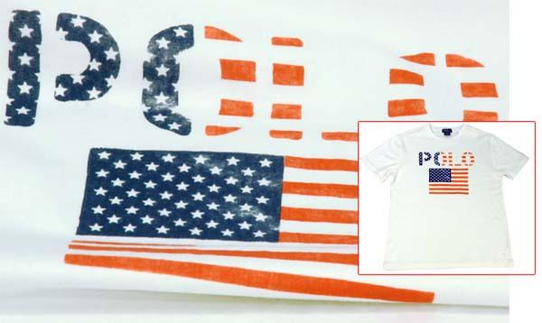 ラルフローレン POLOロゴ、USAフラッグ半袖 Tシャツ