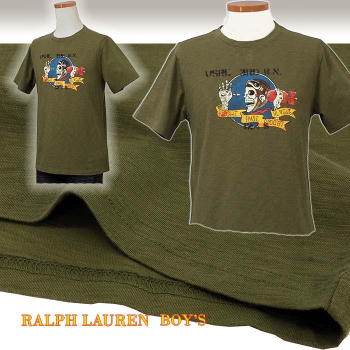 ラルフローレン プリント 半袖Tシャツ