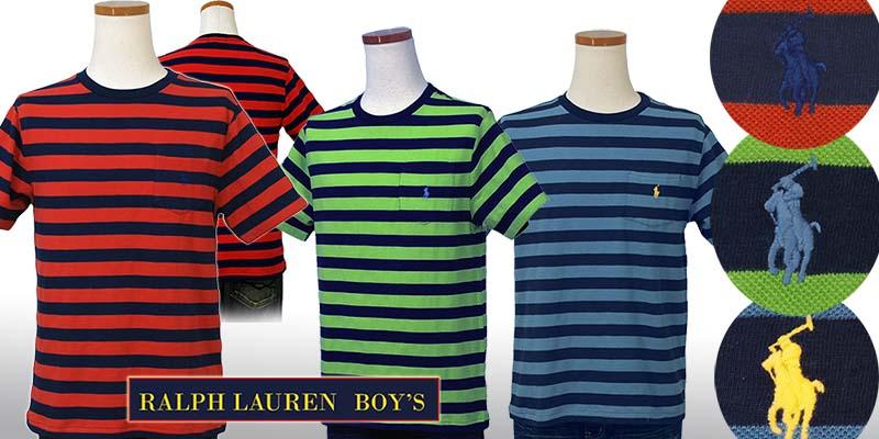 ラルフローレン ポケット付 半袖 ボーダーTシャツ