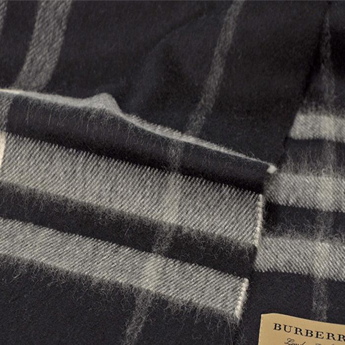 BURBERRY バーバリー カシミヤ100% クラシック チェック マフラー ブラックチェック