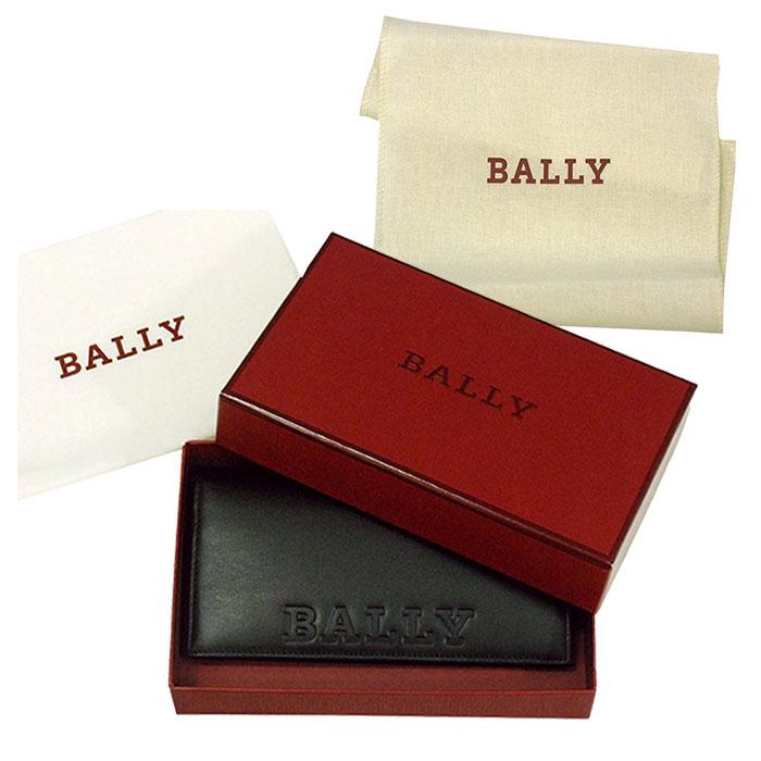 【BALLY】バリー BALIRO BOLD レザー ウォレット保存袋付ブラック ギフトボックス入り