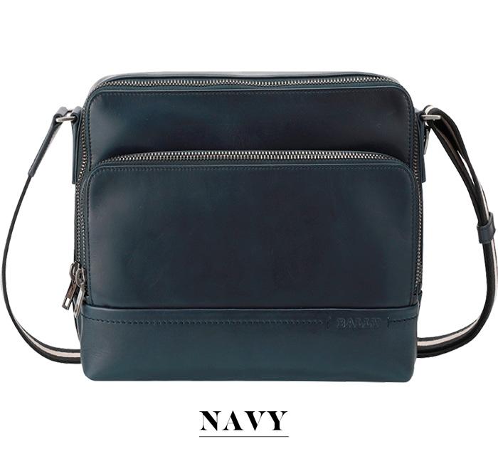 【BALLY】バリー TAU カーフレザー レポートバッグ ネイビー 保存袋付ブラック