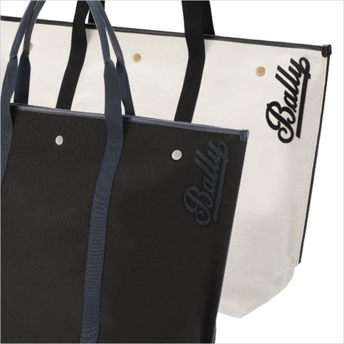 【BALLY】バリー CANVAS TOTE XL トートバッグ ブラック ベージュ