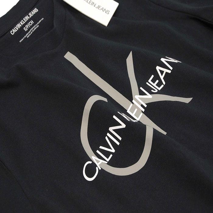 カルバンクライン  CKロゴ プリント半袖Tシャツブラック 綿100%