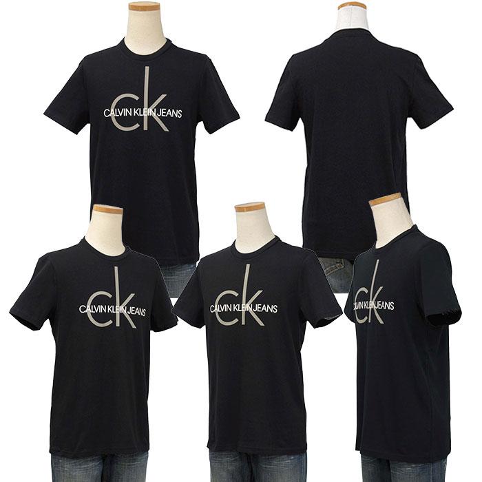 カルバンクライン  CKロゴ プリント半袖Tシャツ 綿100%