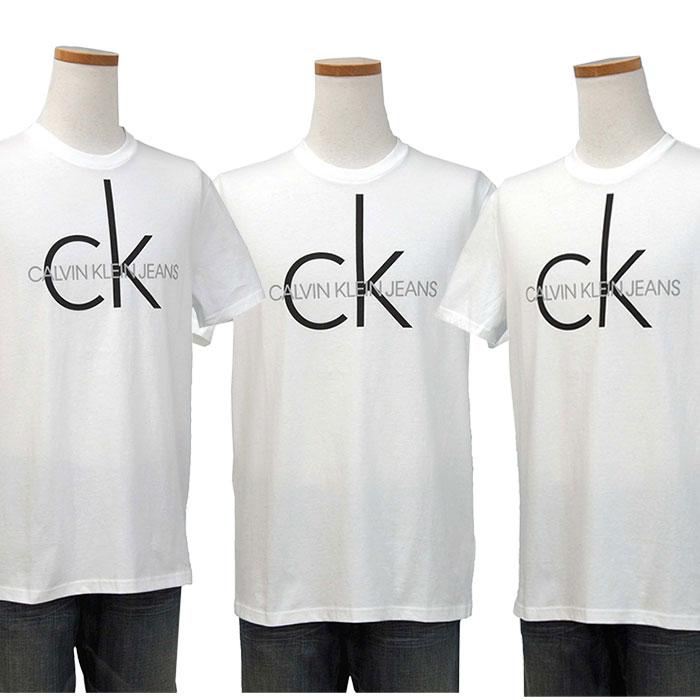 カルバンクライン  CKロゴ プリント半袖Tシャツ