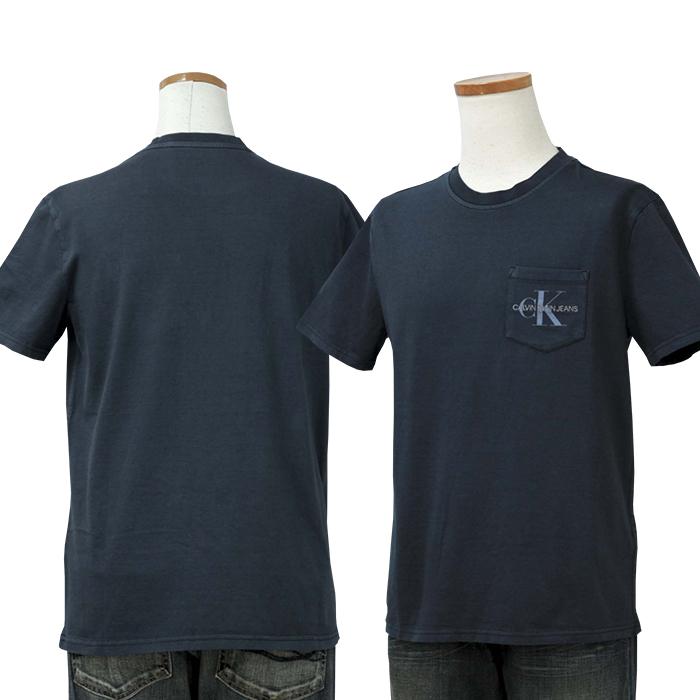 カルバンクライン  CKロゴ半袖Tシャツ ネイビー