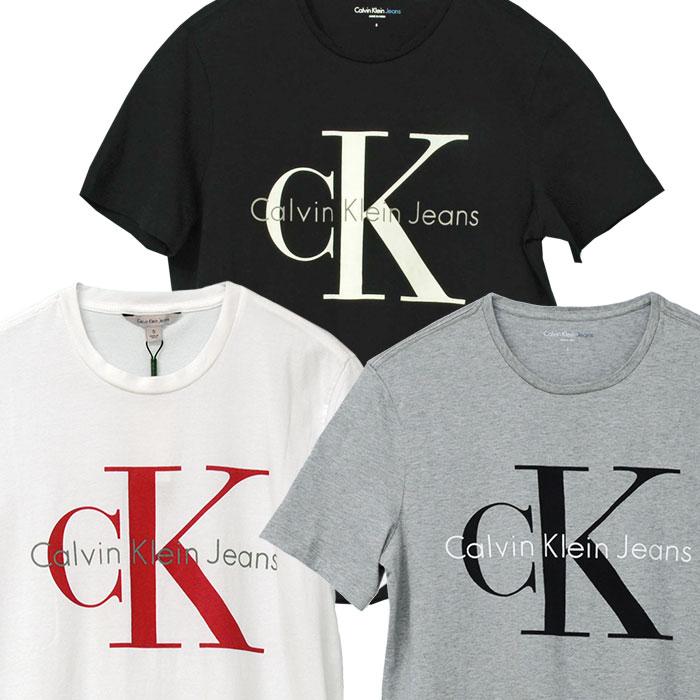 カルバンクライン  CKロゴ半袖Tシャツブラック/ホワイト