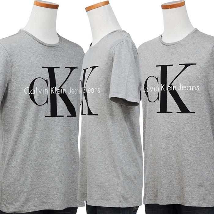 カルバンクライン  CKロゴ半袖Tシャツグレー