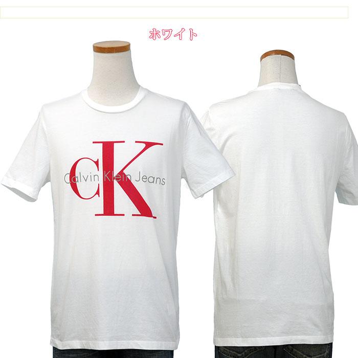 カルバンクライン  CKロゴ半袖Tシャツホワイト