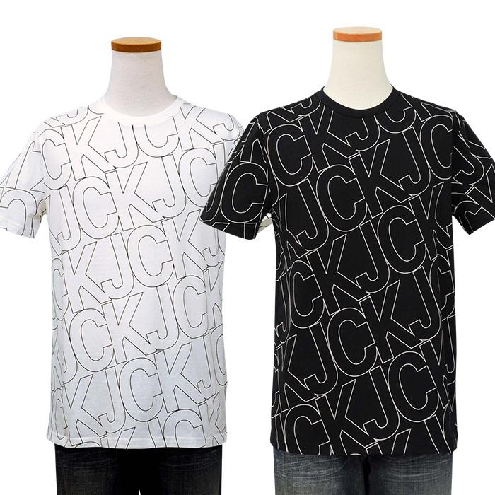 カルバンクライン  総柄 CKロゴプリントTシャツ
