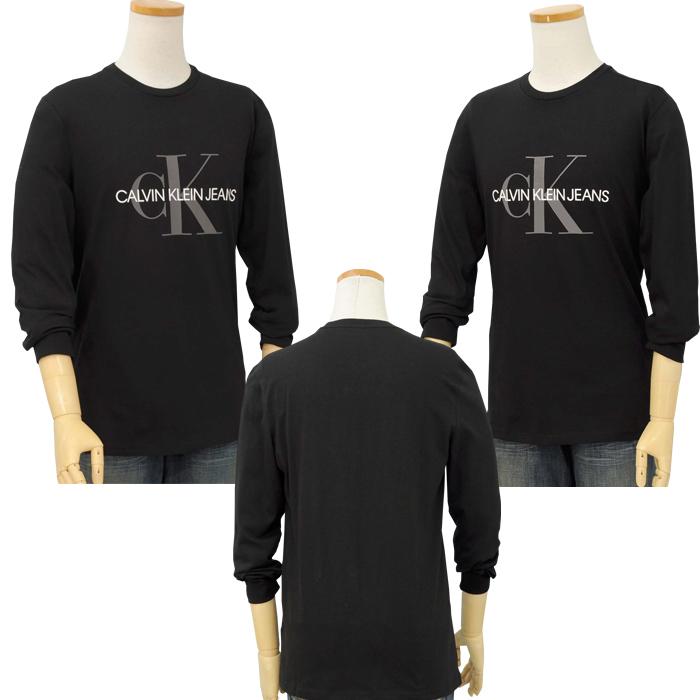 カルバンクライン  CKロゴ 長袖Tシャツブラック