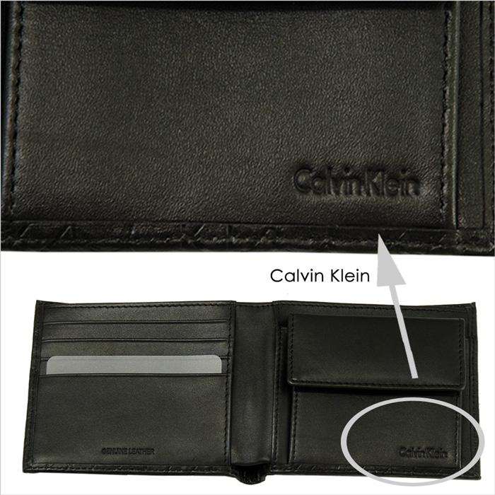 Calvin Klein カルバンクライン  二つ折 財布、ギフトボックス入り  優しい手触りのカーフ(牛革)を使用