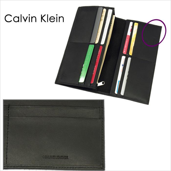Calvin Klein カルバンクライン  長財布、ギフトボックス入り  優しい手触りのカーフ(牛革)を使用