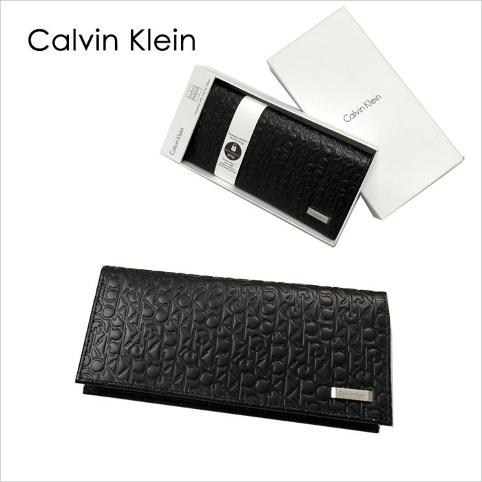 Calvin Klein CKリピート柄 長財布、ギフトボックス入り