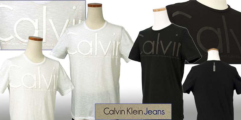 カルバンクライン  CKオーバーサイズロゴ プリント半袖Tシャツ ホワイト ブラック