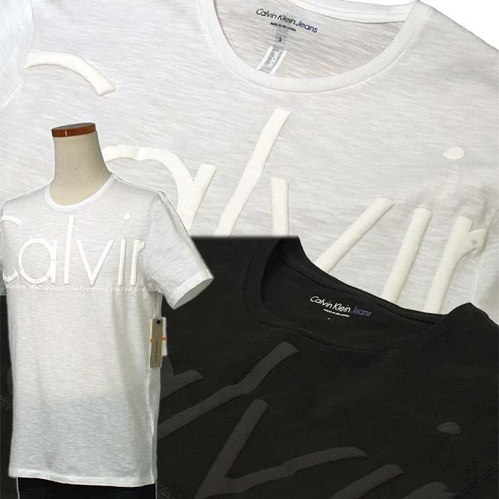 カルバンクライン  CKオーバーサイズロゴ プリント半袖Tシャツ 綿100%