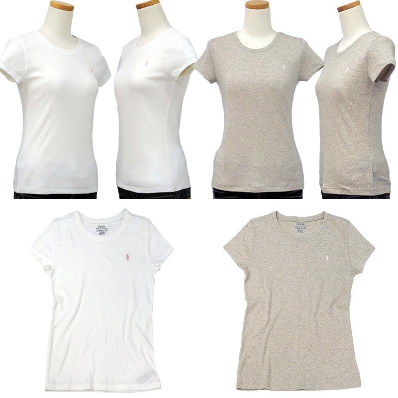 ラルフローレン ガールズ キャップスリーブ 半袖Tシャツ ホワイト グレー