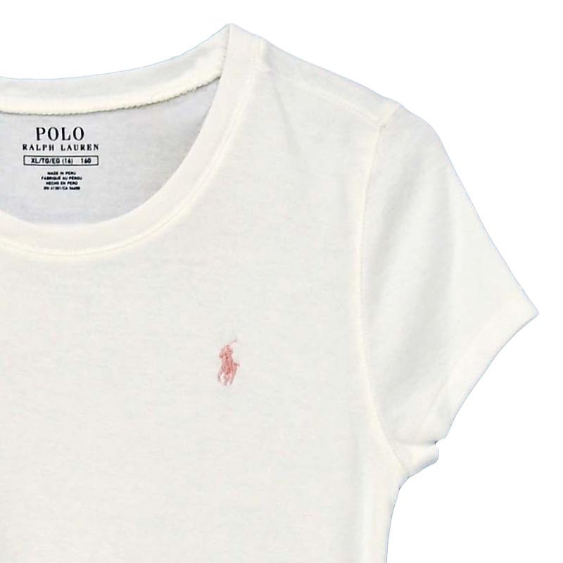 ラルフローレン ガールズ キャップスリーブ 半袖Tシャツ