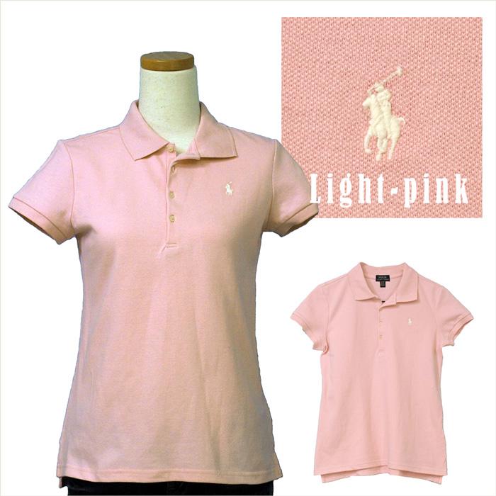 ラルフローレン ガールズ 半袖鹿の子ポロシャツ ライトピンク