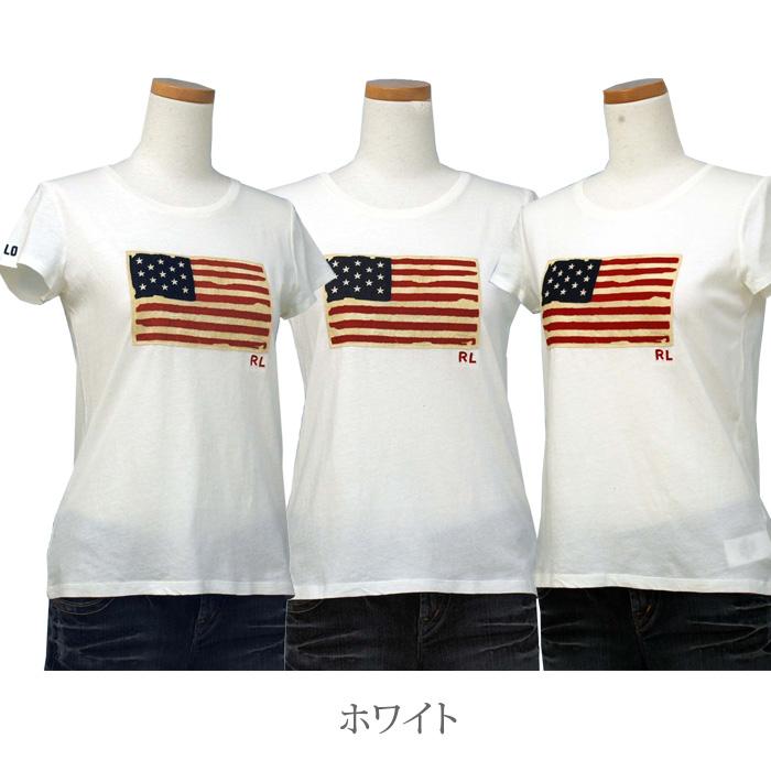 ラルフローレン ガールズ ウォッシュド コットン グラフィック Tシャツ ホワイト