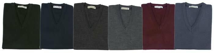 日本製V-ネック セーター
