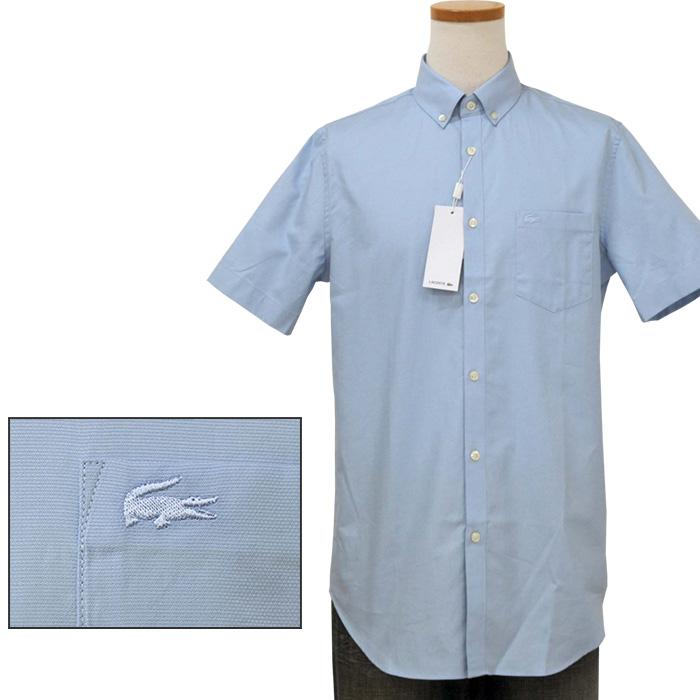 Lacoste ラコステ 半袖 オックスフォードシャツ ブルー