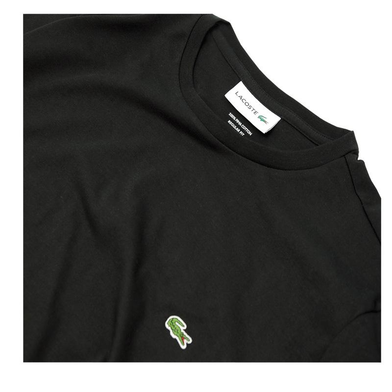 Lacoste ラコステ 半袖 ワンポイント半袖Tシャツ ブラック