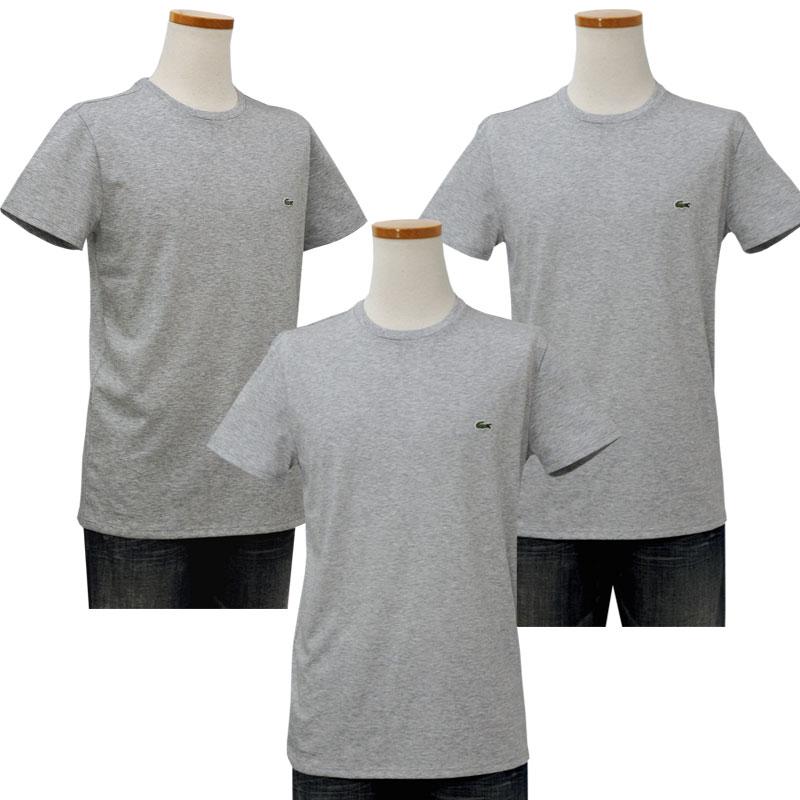 Lacoste ラコステ 半袖 ワンポイント半袖Tシャツ グレー
