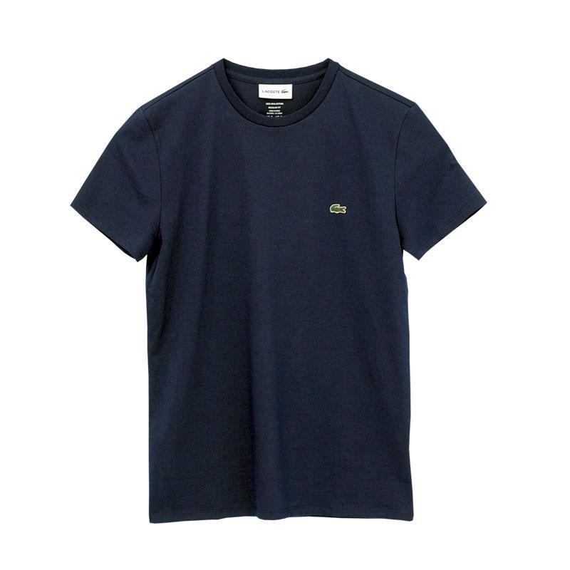 Lacoste ラコステ ワンポイント半袖Tシャツ ネイビー