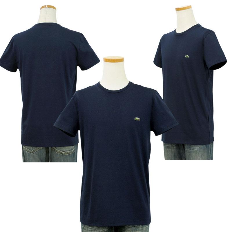 Lacoste ラコステ 半袖 ワンポイント半袖Tシャツ ネイビー