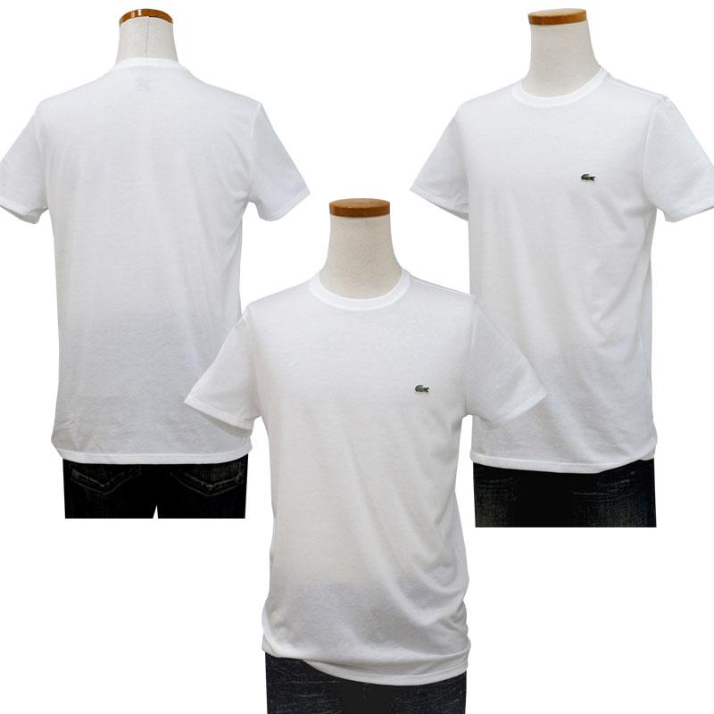 Lacoste ラコステ 半袖 ワンポイント半袖Tシャツ ホワイト