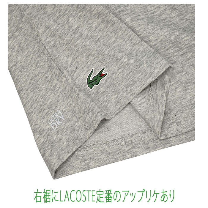 Lacoste ラコステ 半袖 マイアミオープンクロコダイルプリントTシャツ グレー