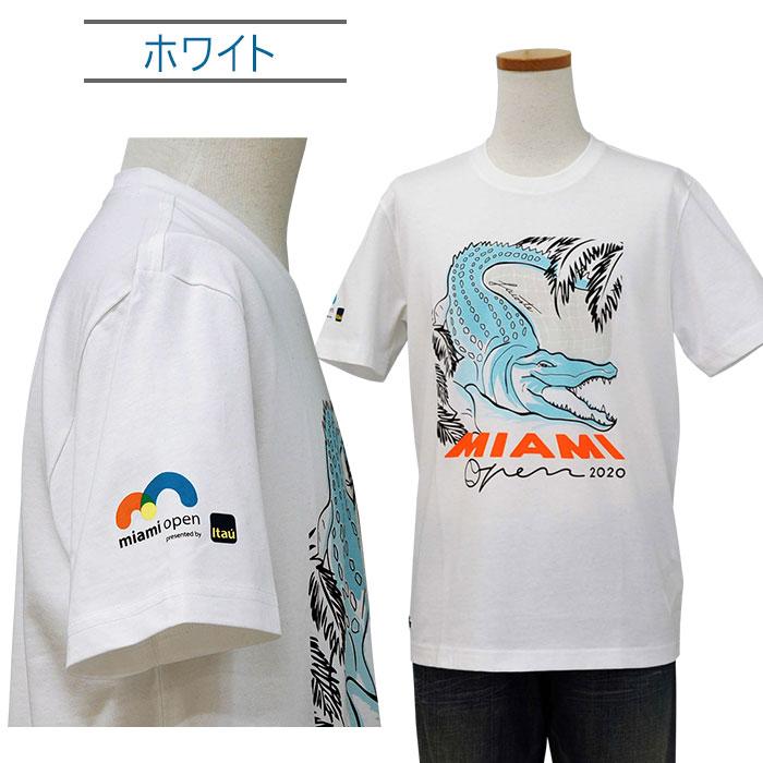 Lacoste ラコステ 半袖 マイアミオープンクロコダイルプリントTシャツ ホワイト