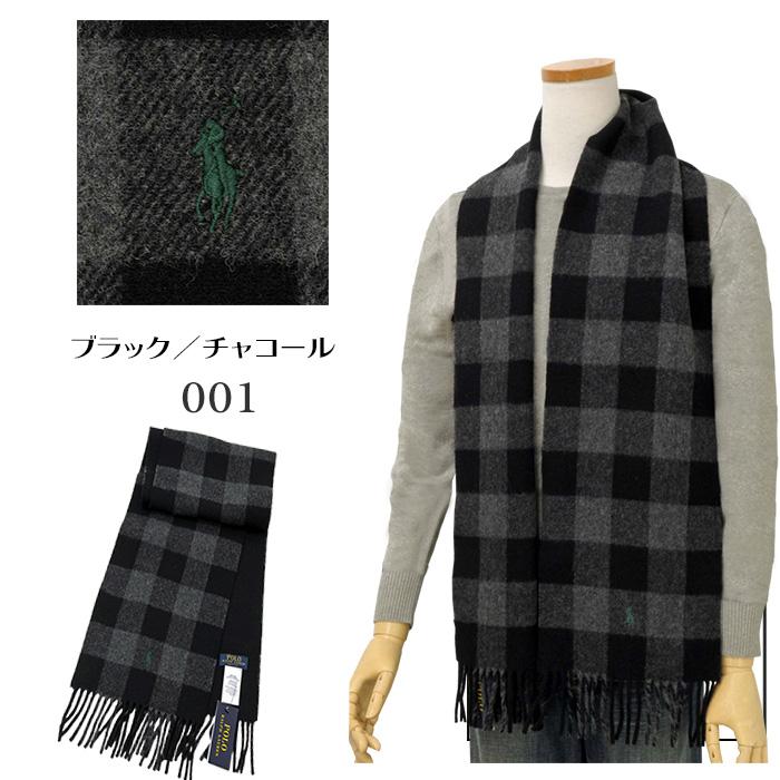 ラルフローレン 大格子(バッファローチェック) ブラック/チャコールー 2019年モデル