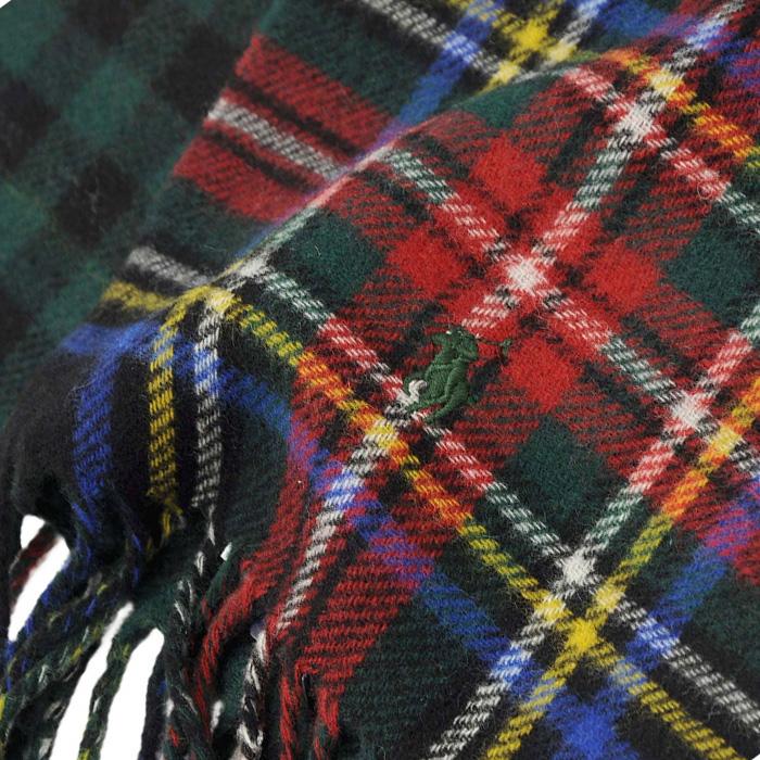 ラルフローレン リバーシブル スコットランド風タータンチェックマフラー001 2020年モデル