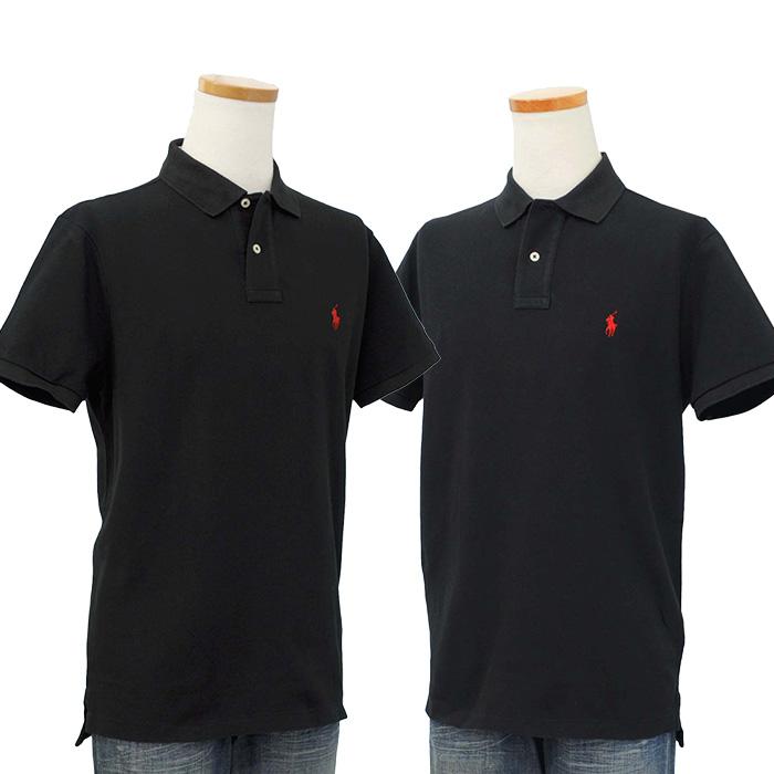 ラルフローレン メンズ 半袖 鹿の子 ポロシャツ ブラック