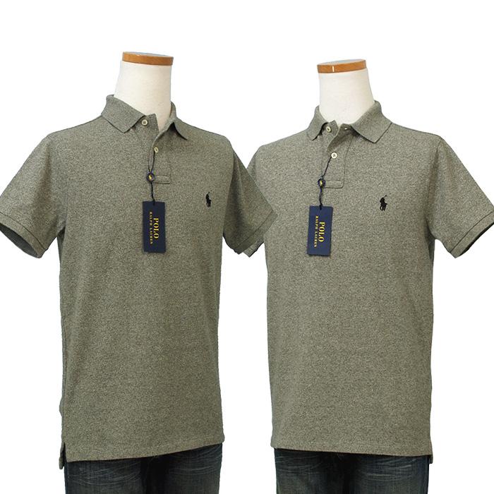 ラルフローレン メンズ 半袖 鹿の子 ポロシャツ グレー
