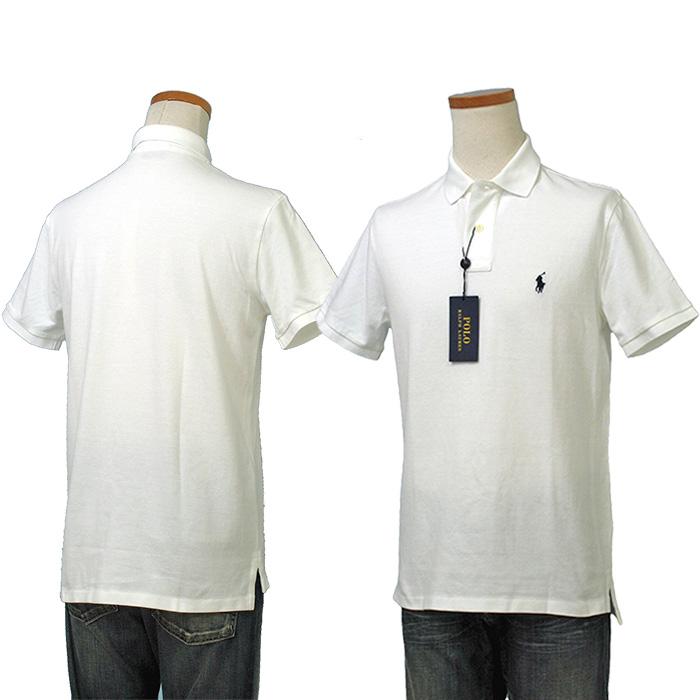 POLO ラルフローレン メンズ 半袖 鹿の子 ポロシャツ ホワイト