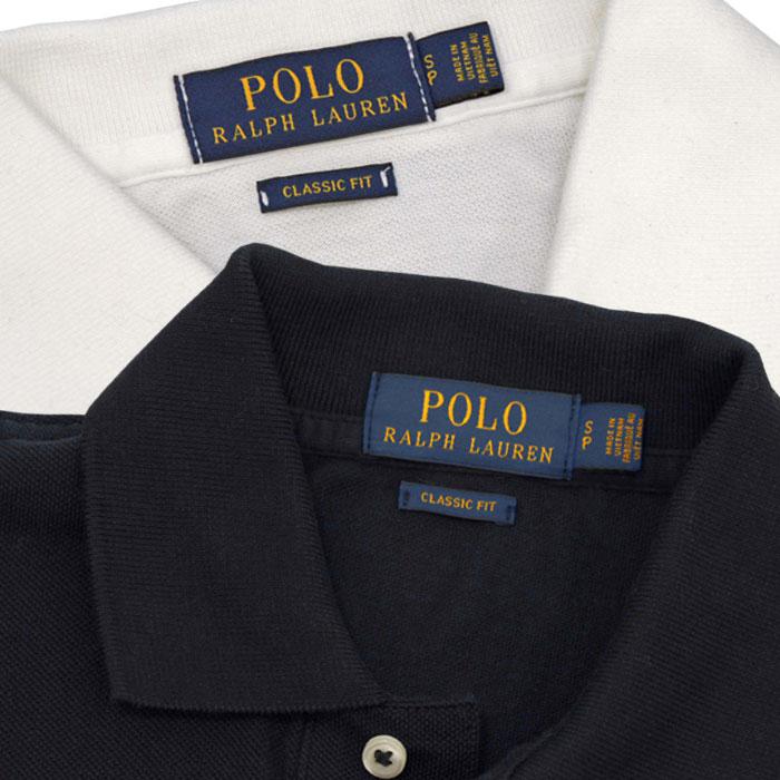 ラルフローレン メンズ ビッグポニー半袖ポロシャツ衿部分