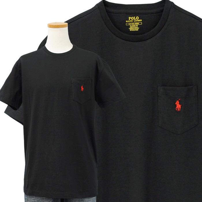 ラルフローレン ポケット付 半袖 Tシャツ ブラック 黒
