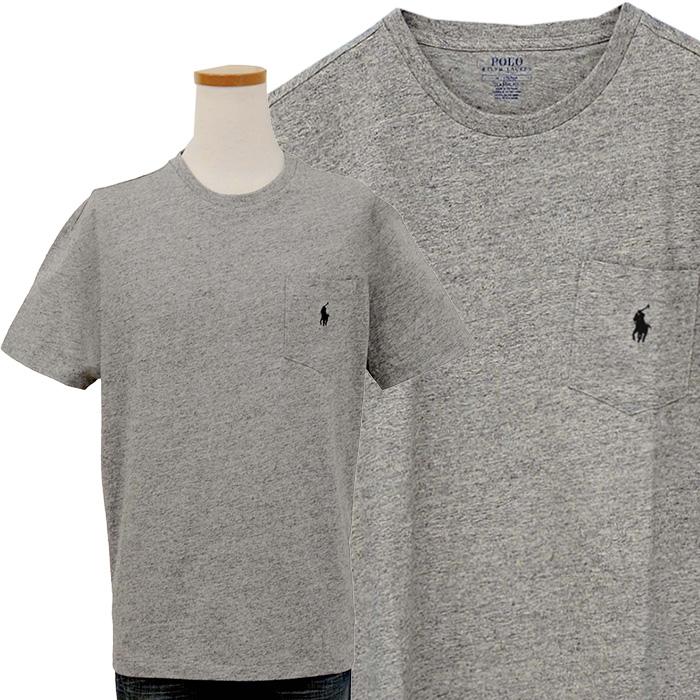 ラルフローレン ポケット付 半袖 Tシャツ ミックスグレー