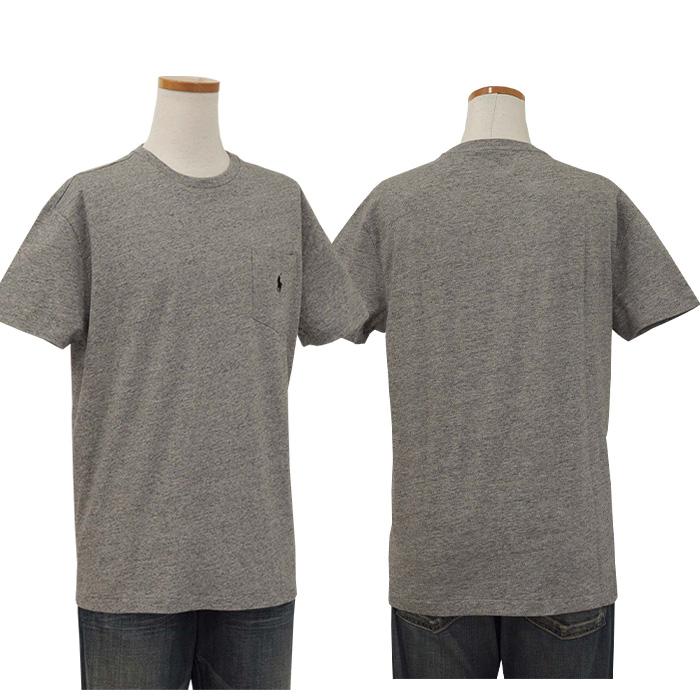 ラルフローレン 定番ポケット付半袖 Tシャツ 灰色 ネズミ色