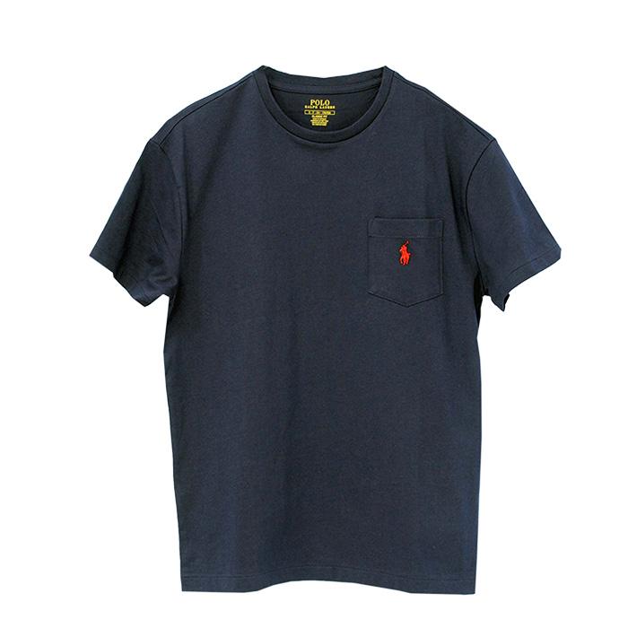ラルフローレン ポケット付 半袖 Tシャツ ネイビー