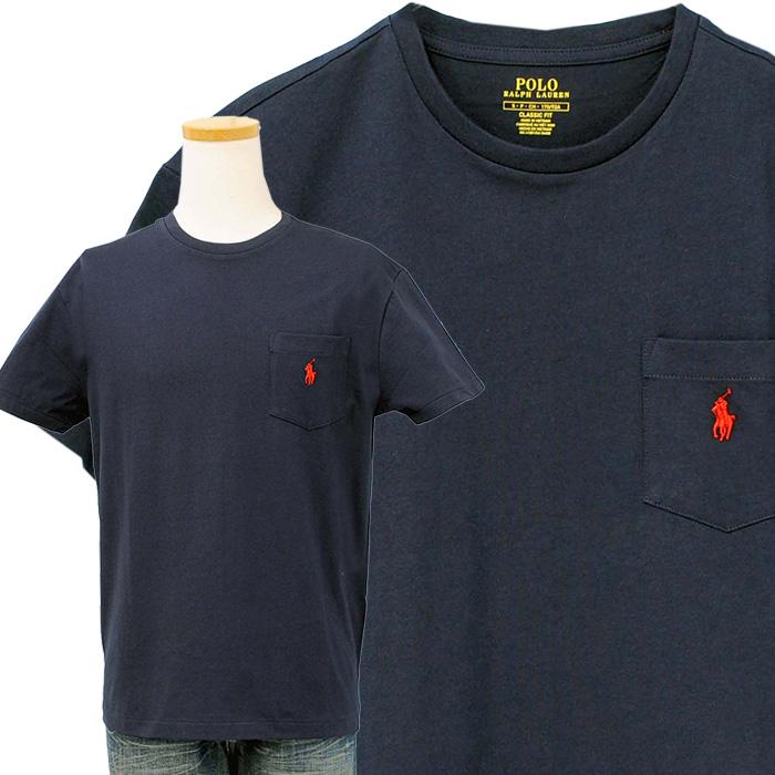 ラルフローレン ポケット付 半袖 Tシャツ 紺