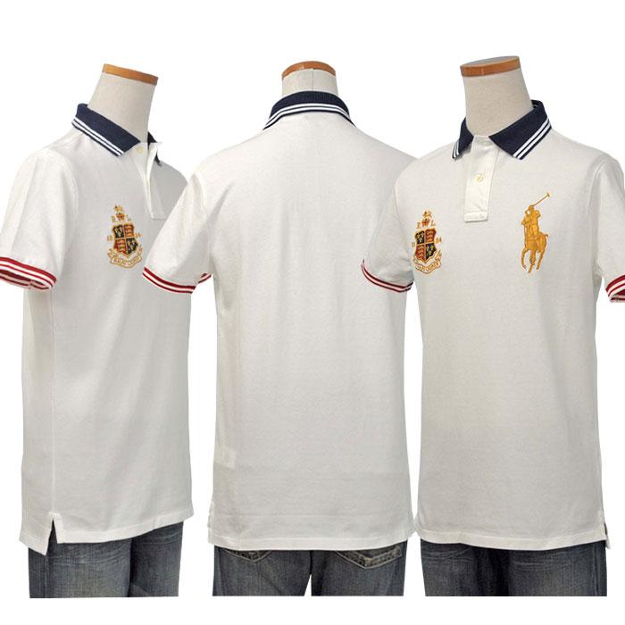 POLO ラルフローレン メンズ ビッグポニー半袖 ポロシャツ ホワイト