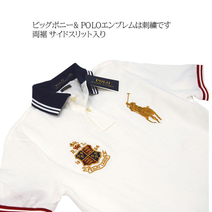 ラルフローレン メンズ ビッグポニー半袖 ポロシャツ  ポニー刺繍とエンブレム