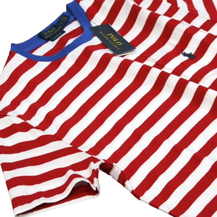 POLO ラルフローレン メンズ 半袖ボーダーTシャツ 衿部分