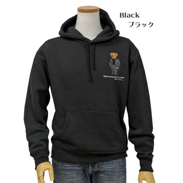 ラルフローレン メンズ スーツ ベア フリース フーディ ブラック